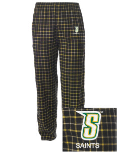 Siena College Saints Embroidered Men's Button-Fly Collegiate Flannel Pant