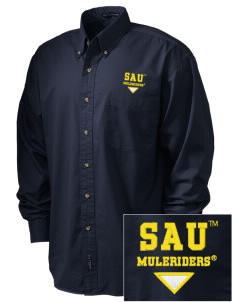 Southern Arkansas University Muleriders Embroidered Men's Twill Shirt