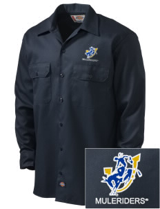 Southern Arkansas University Muleriders Embroidered Dickies Men's Long-Sleeve Workshirt
