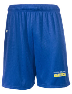 "Southern Arkansas University Muleriders  Russell Men's Mesh Shorts, 7"" Inseam"