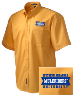 Southern Arkansas University Muleriders Embroidered Men's Easy Care Shirt