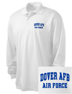 Dover AFB Embroidered Men's Long Sleeve Micropique Sport-Wick Sport Shirt