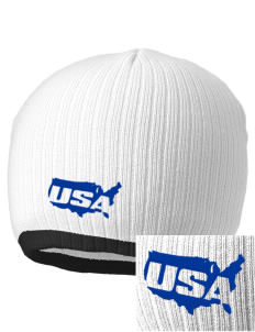 Dover AFB Embroidered Champion Striped Knit Beanie