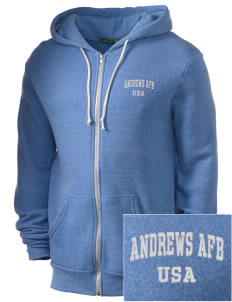 Andrews AFB Embroidered Alternative Men's Rocky Zip Hooded Sweatshirt