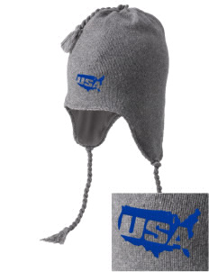 Andersen Air Force Base Embroidered Knit Hat with Earflaps