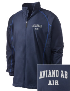Aviano Air Base Embroidered Men's Nike Golf Full Zip Wind Jacket