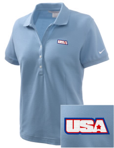 Aviano Air Base Embroidered Nike Women's Pique Golf Polo