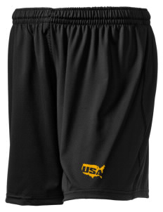 "Hunter Army Airfield Embroidered Holloway Women's Performance Shorts, 5"" Inseam"