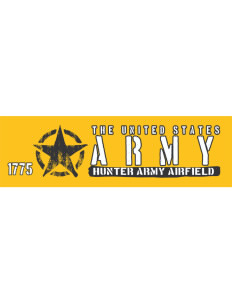 "Hunter Army Airfield Bumper Sticker 11"" x 3"""