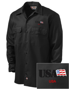 Fort Shafter Embroidered Dickies Men's Long-Sleeve Workshirt