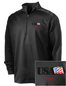 Aberdeen Proving Ground Embroidered Nike Men's Golf Dri-Fit 1/2 Zip