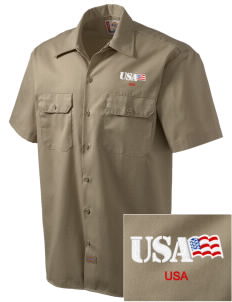 Aberdeen Proving Ground Embroidered Dickies Men's Short-Sleeve Workshirt