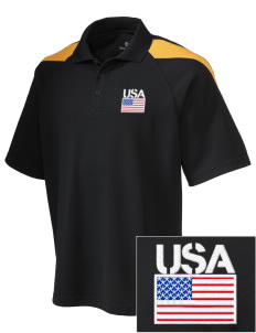Fort Meade Embroidered Holloway Men's Frequency Performance Pique Polo