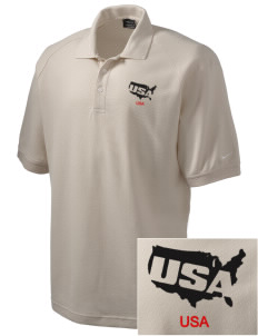 Fort Meade Embroidered Nike Men's Pique Knit Golf Polo