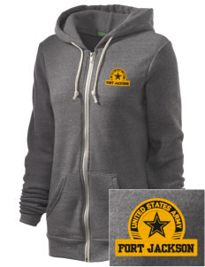 Fort Jackson Embroidered Alternative Unisex The Rocky Eco-Fleece Hooded Sweatshirt
