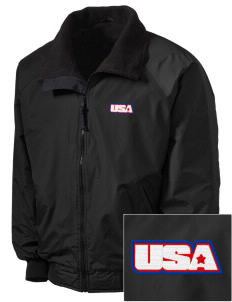Fort Belvoir Embroidered Men's Fleece-Lined Jacket