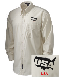 Fort Myer  Embroidered Men's Easy Care, Soil Resistant Shirt