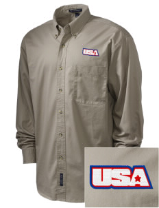 Fort Myer Embroidered Men's Twill Shirt