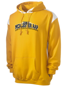 Mcalester Army Ammunition Plant Men's Pullover Hooded Sweatshirt with Contrast Color