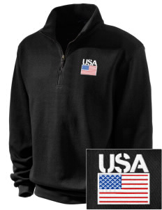 Dugway Proving Grounds Embroidered Men's 1/4-Zip Sweatshirt