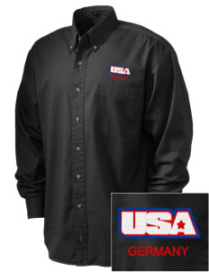 USAG Schweinfurt Embroidered Men's Twill Shirt