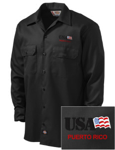 Fort Buchanan Embroidered Dickies Men's Long-Sleeve Workshirt