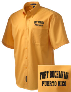 Fort Buchanan Embroidered Men's Easy Care Shirt