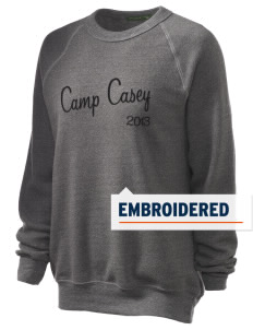 Camp Casey Embroidered Unisex Alternative Eco-Fleece Raglan Sweatshirt