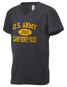 Camp Hienry-Taegu Kid's V-Neck Jersey T-Shirt