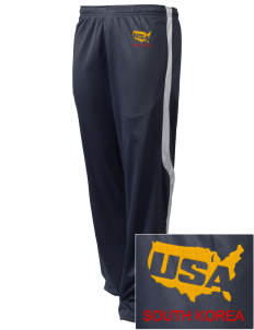 Camp Hialeah-Pusan Embroidered Holloway Men's Tricotex Warm Up Pants