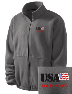 Camp Red Cloud Embroidered Men's Fleece Jacket