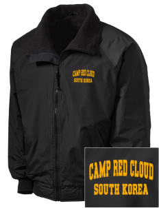Camp Red Cloud Embroidered Men's Fleece-Lined Jacket