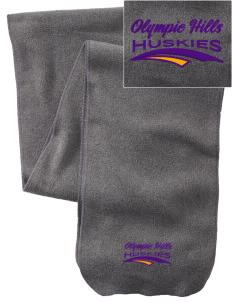 Olympic Hills Elementary School Huskies  Embroidered Extra Long Fleece Scarf