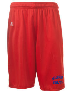 "Millbrook Elementary School Colts  Russell Deluxe Mesh Shorts, 10"" Inseam"