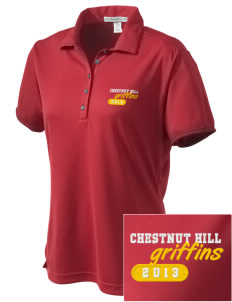 Chestnut Hill College Griffins  Embroidered Women's Bamboo Charcoal Birdseye Jacquard Polo