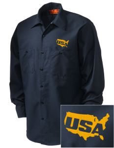 USS San Antonio Embroidered Men's Industrial Work Shirt - Regular