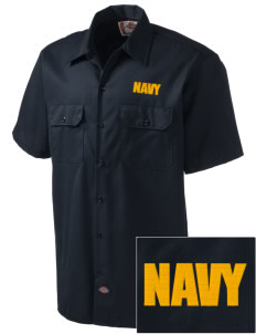 USS San Antonio Embroidered Dickies Men's Short-Sleeve Workshirt