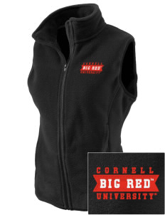 Cornell University Big Red Embroidered Women's Fleece Vest