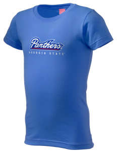 Georgia State University Panthers  Girl's Fine Jersey Longer Length T-Shirt