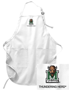 Marshall University Thundering Herd Embroidered Full-Length Apron with Pockets