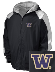 University of Washington Huskies Embroidered Holloway Men's Weather Resistant Full-Zip Jacket