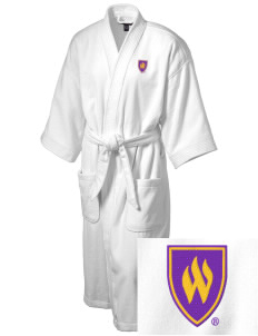 Weber State University Wildcats Embroidered Terry Velour Robe