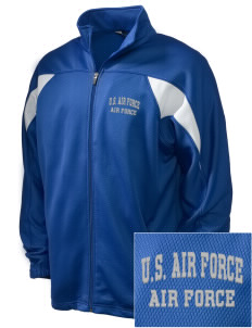 U.S. Air Force Embroidered Holloway Men's Full-Zip Track Jacket