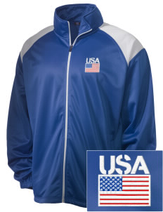 U.S. Air Force Embroidered Men's Tricot Track Jacket