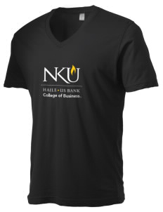 Northern Kentucky University Norse Alternative Men's 3.7 oz Basic V-Neck T-Shirt
