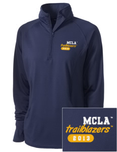 Massachusetts College of Liberal Arts Trailblazers Embroidered Ladies Stretched Half-Zip Pullover