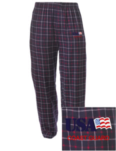 U.S. Coast Guard Embroidered Men's Button-Fly Collegiate Flannel Pant