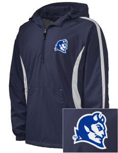 Central Connecticut State University Blue Devils Embroidered Men's Colorblock Raglan Anorak