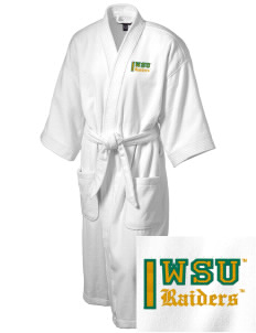Wright State University Raiders Embroidered Terry Velour Robe
