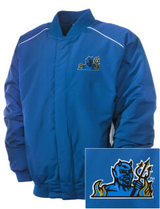 SUNY Fredonia Blue Devils Embroidered Russell Men's Baseball Jacket